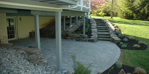 Mixing Pavers, Stone, and Wood